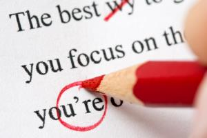 Proofreading others work