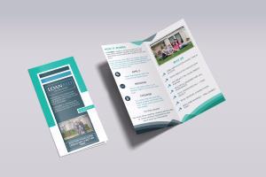 bi fold brochure freelancers guru