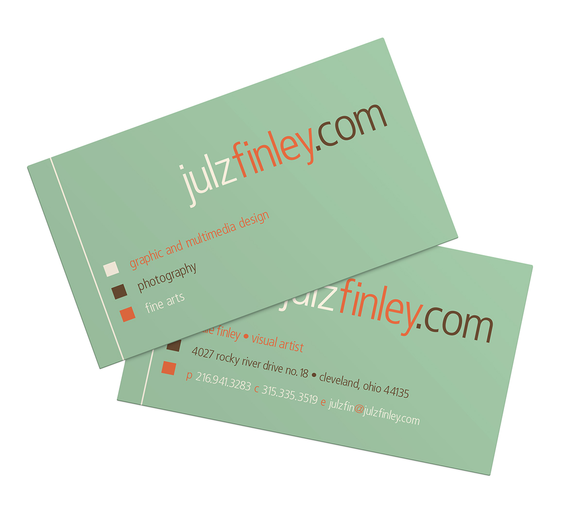 Business cards by julzfinley freelancer on guru julzfinley personal business card julie finley 2005 colourmoves