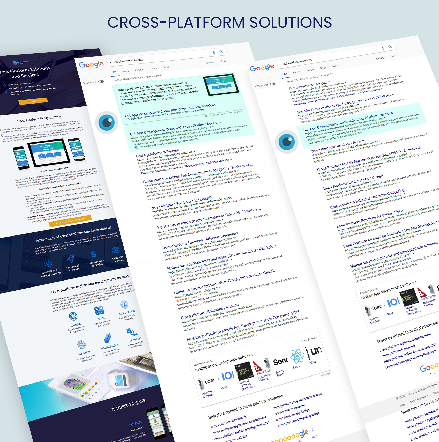 Landing Page: Cross Platform Solutions by Scopic Software 584556