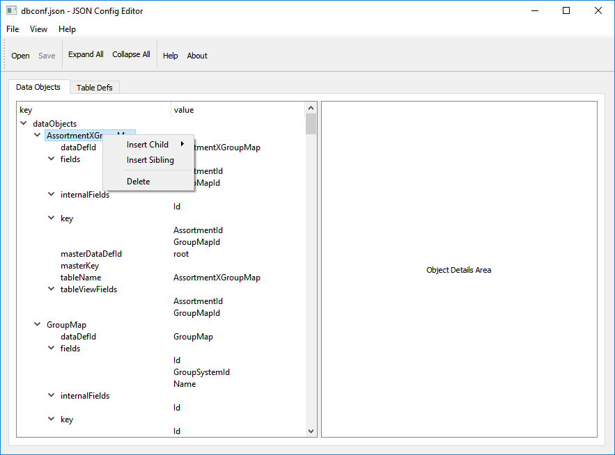 JSON Config Editor by MV [bahur] 572680 - Freelancer on Guru