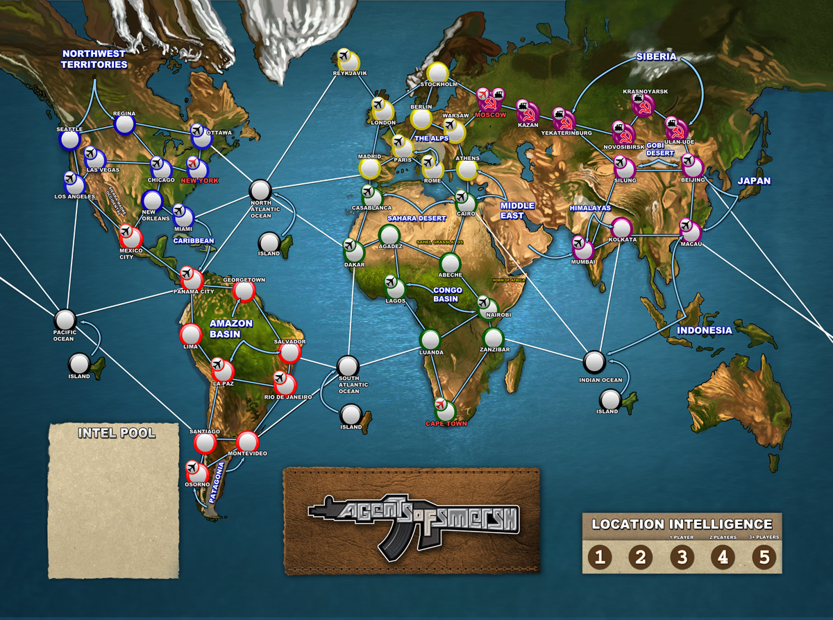 Board game world map by cgmythology freelancer on guru related services gumiabroncs Gallery