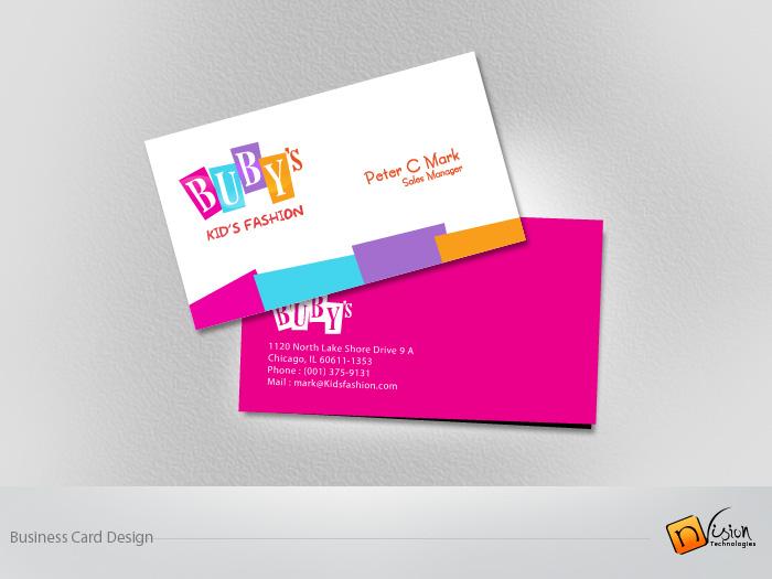 business card design by envisiontechno freelancer on guru - Kids Business Cards