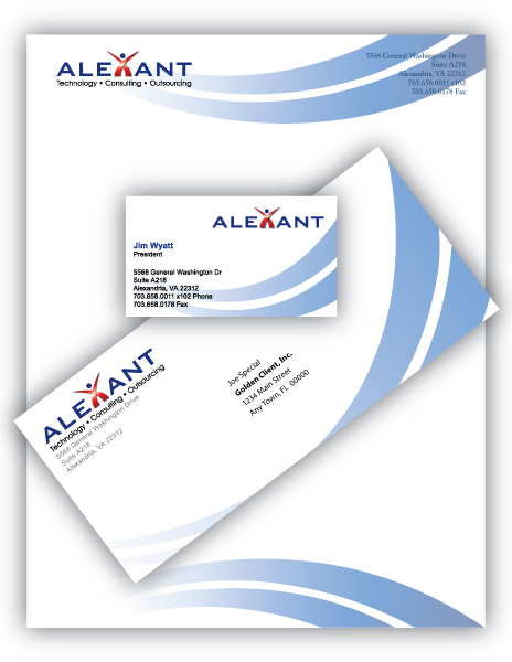 Identity packages business cards by imagesmithdesigns identity package including logo letterhead envelope and business card designed for alexant systems corporation reheart Choice Image