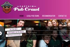 Booking System: http://www.captainpubcrawl.com/