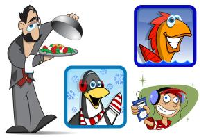 Portfolio for Vector Cartoon Characters