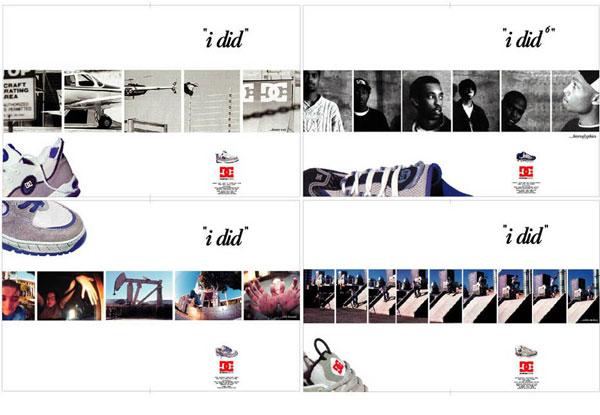 Portfolio for DC Shoe Company - 4 Ads - $2500 ea.
