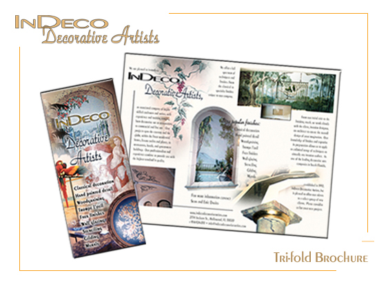 Portfolio for Tri-Fold Brochure w/ Corporate Package