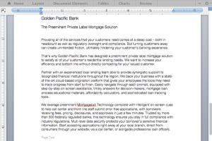 Portfolio for Financial Services Copywriting