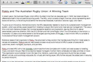 Portfolio for Case Study Copywriting and Editing