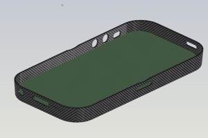 iPhone cover made from Carbon Fibre