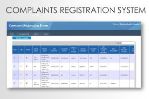 Portfolio for Complaint Management System