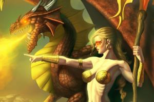 Lady and Her Dragon