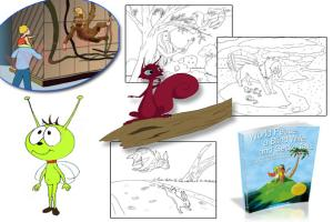 Portfolio for Children Coloring Books (B/W line art)