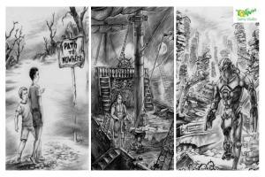Portfolio for Illustrations (hand drawn, black and whi