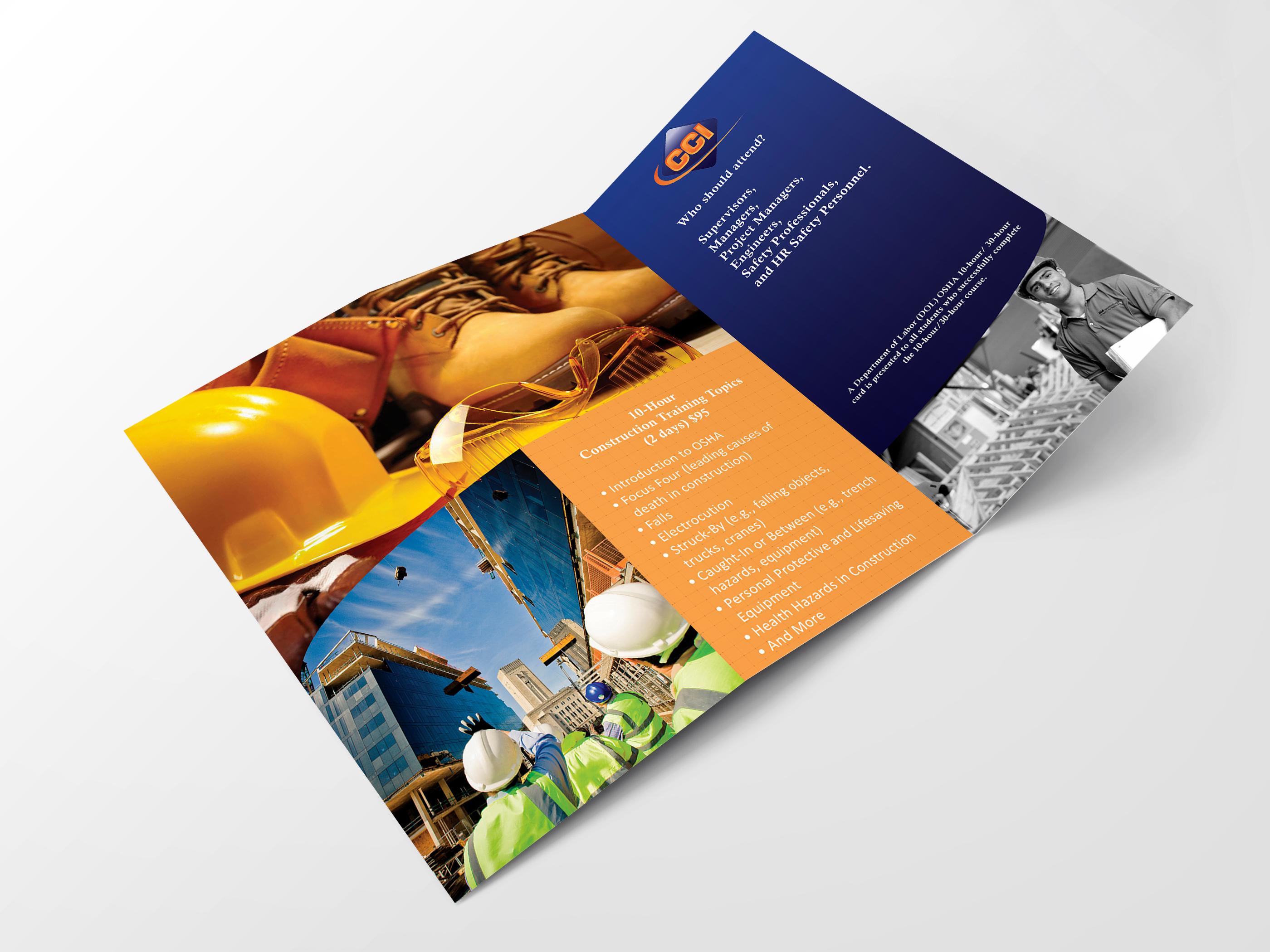 3 fold flyers construction company