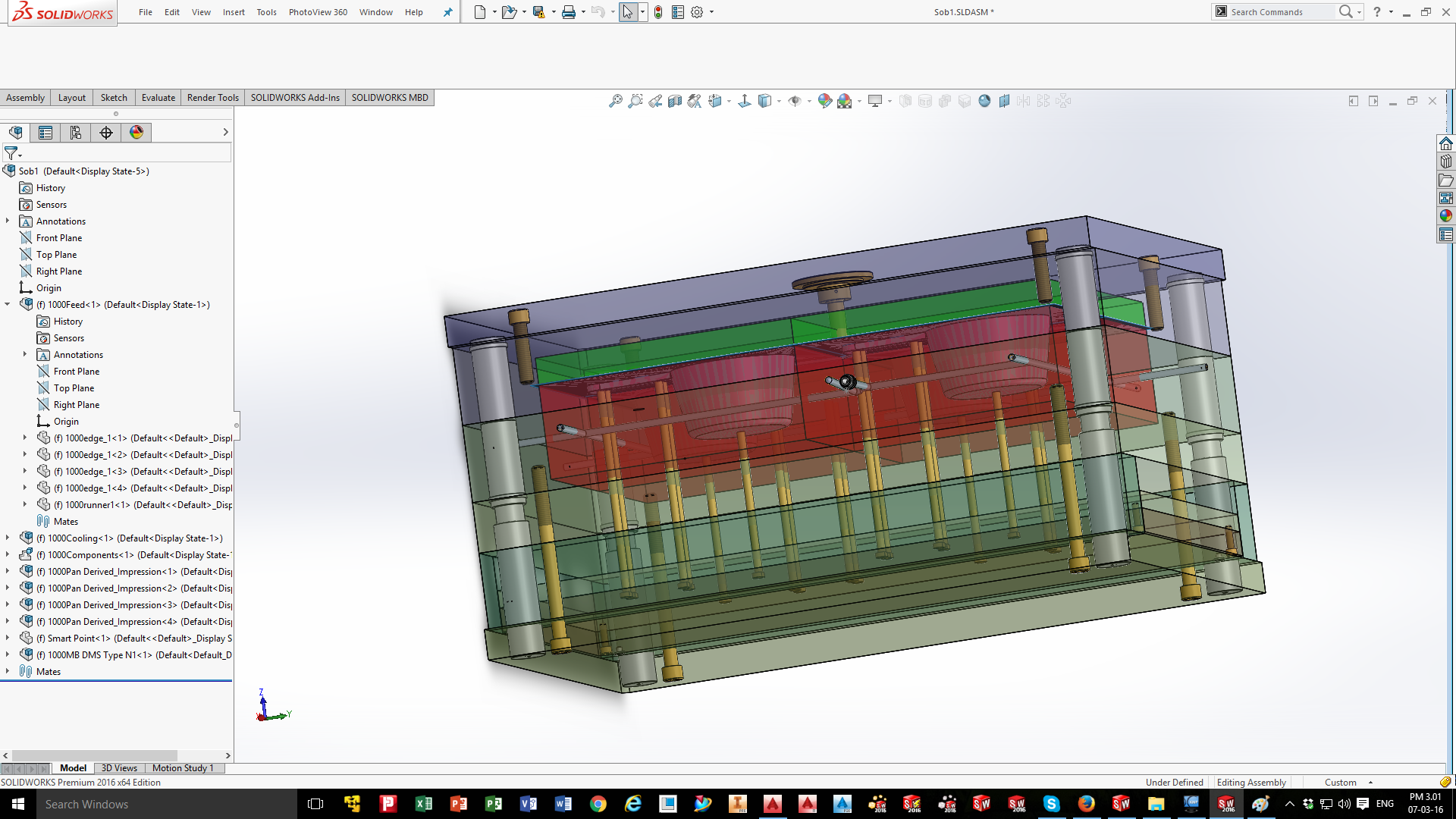 Mold Design (Pan Project) by Md  Sobug Mia 353547