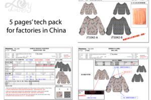 Portfolio for Tech Pack of Apparel