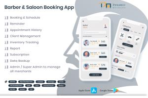 Portfolio for Barber and saloon Booking Application