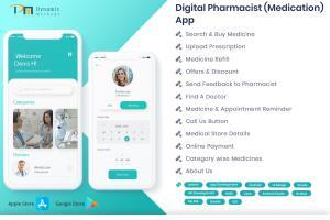 Portfolio for Digital Pharmacist (Medication) App