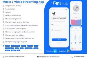 Portfolio for Music Streaming App