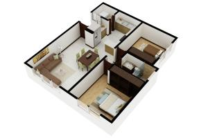 Portfolio for 3D floor plan visualizations