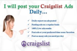 Craigslist Posting, LinkedIn Ads, Administrative & Secretarial