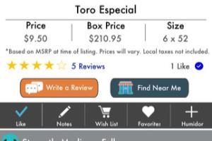 Cigar Boss mobile application