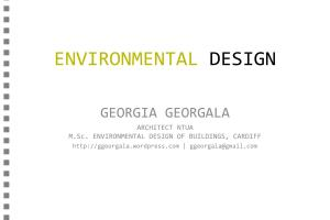 Portfolio for Environmental Design Consultant