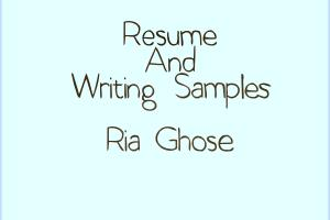 Portfolio for Resumes & Cover Letters
