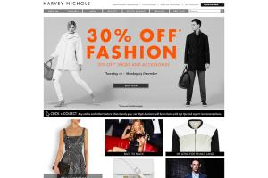 Ecommerce site for Harveynichols