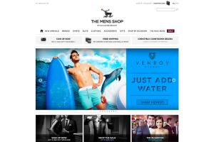 Ecommerce site fot The Men Shop