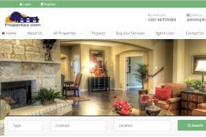 Portfolio for custom made CMS on a real estate portal