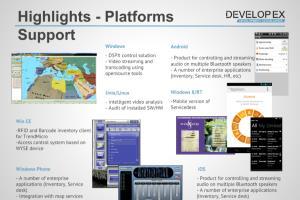 Portfolio for Software development services