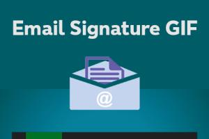 Portfolio for attractive Email signature GIF