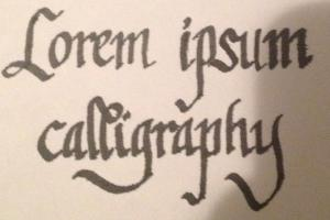 Portfolio for Writing With Flair - Calligraphy