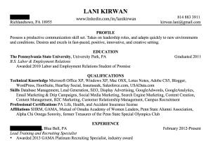 Portfolio for Resume Writing & Editing
