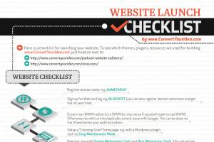 Infographic - Website Launch Checklist