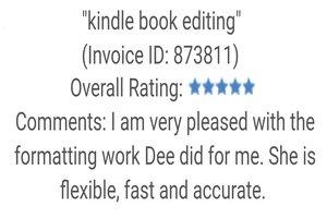 Portfolio for e-Book, Kindle Formatting