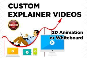 Portfolio for Animated explainer or whiteboard video