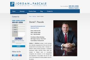 Web content for JORDAN + PASCALE Law
