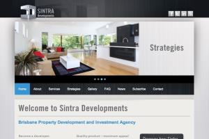 Web content for SINTRA Developments