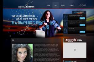 http://jessicakirson.com/ comedian site - custom CMS