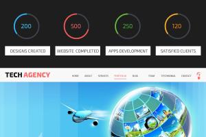 Tech Agency Wordpress Parallax  Theme Design