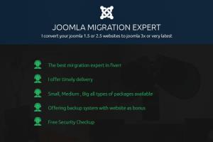Portfolio for migrate your joomla website to latest