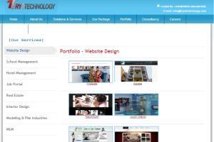 Portfolio for A leading web development organization