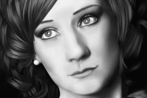 Portfolio for Digital Black + White Portrait Painting