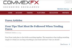 Website Content for CommexFX broker