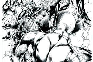 Portfolio for Comic Books Inking