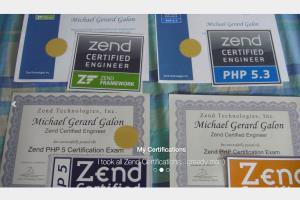 Portfolio for Zend Certified PHP Engineer